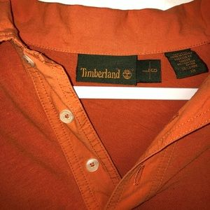 Long Sleeve Orange Timberland Shirt
